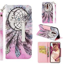 Angel Monternet Big Metal Buckle PU Leather Wallet Phone Case for Huawei Mate 10 Pro(6.0 inch)