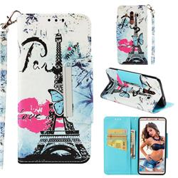 Lip Tower Big Metal Buckle PU Leather Wallet Phone Case for Huawei Mate 10 Pro(6.0 inch)