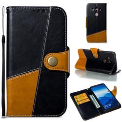 Retro Magnetic Stitching Wallet Flip Cover for Huawei Mate 10 Pro(6.0 inch) - Black
