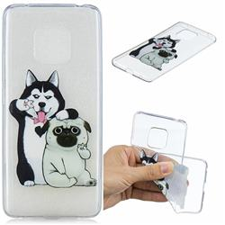 Selfie Dog Clear Varnish Soft Phone Back Cover for Huawei Mate 20