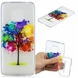 Oil Painting Tree Clear Varnish Soft Phone Back Cover for Huawei Mate 20