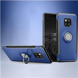 Armor Anti Drop Carbon PC + Silicon Invisible Ring Holder Phone Case for Huawei Mate 20 - Sapphire