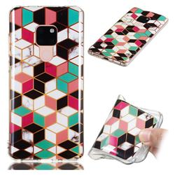Three-dimensional Square Soft TPU Marble Pattern Phone Case for Huawei Mate 20