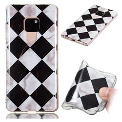 Black and White Matching Soft TPU Marble Pattern Phone Case for Huawei Mate 20