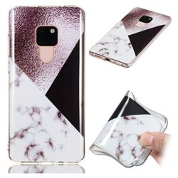 Black white Grey Soft TPU Marble Pattern Phone Case for Huawei Mate 20