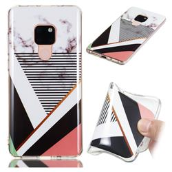 Pinstripe Soft TPU Marble Pattern Phone Case for Huawei Mate 20