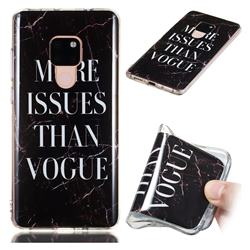 Stylish Black Soft TPU Marble Pattern Phone Case for Huawei Mate 20