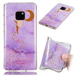 Elf Purple Soft TPU Marble Pattern Phone Case for Huawei Mate 20