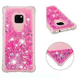 Dynamic Liquid Glitter Sand Quicksand TPU Case for Huawei Mate 20 - Pink Love Heart
