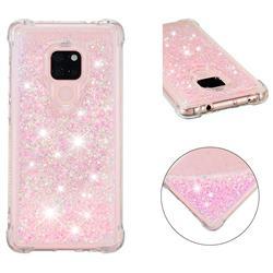 Dynamic Liquid Glitter Sand Quicksand TPU Case for Huawei Mate 20 - Silver Powder Star