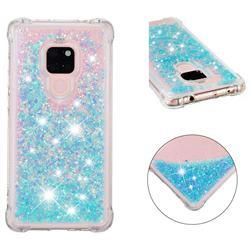 Dynamic Liquid Glitter Sand Quicksand TPU Case for Huawei Mate 20 - Silver Blue Star
