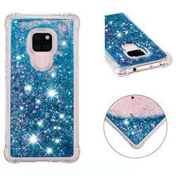 Dynamic Liquid Glitter Sand Quicksand TPU Case for Huawei Mate 20 - Blue Love Heart