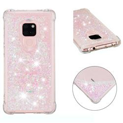 Dynamic Liquid Glitter Sand Quicksand Star TPU Case for Huawei Mate 20 - Pink