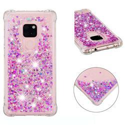Dynamic Liquid Glitter Sand Quicksand Star TPU Case for Huawei Mate 20 - Rose
