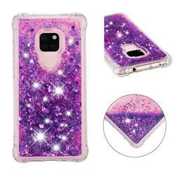 Dynamic Liquid Glitter Sand Quicksand Star TPU Case for Huawei Mate 20 - Purple