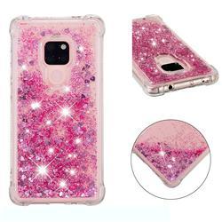 Dynamic Liquid Glitter Sand Quicksand Star TPU Case for Huawei Mate 20 - Diamond Rose