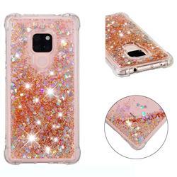 Dynamic Liquid Glitter Sand Quicksand Star TPU Case for Huawei Mate 20 - Diamond Gold