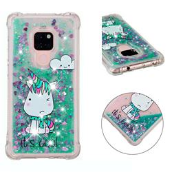 Tiny Unicorn Dynamic Liquid Glitter Sand Quicksand Star TPU Case for Huawei Mate 20