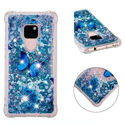 Flower Butterfly Dynamic Liquid Glitter Sand Quicksand Star TPU Case for Huawei Mate 20