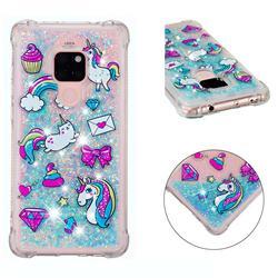 Fashion Unicorn Dynamic Liquid Glitter Sand Quicksand Star TPU Case for Huawei Mate 20