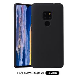 Howmak Slim Liquid Silicone Rubber Shockproof Phone Case Cover for Huawei Mate 20 - Black