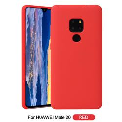 Howmak Slim Liquid Silicone Rubber Shockproof Phone Case Cover for Huawei Mate 20 - Red