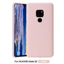 Howmak Slim Liquid Silicone Rubber Shockproof Phone Case Cover for Huawei Mate 20 - Pink