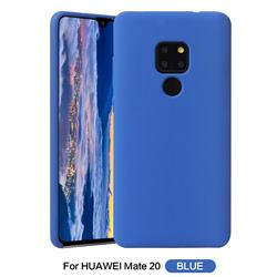 Howmak Slim Liquid Silicone Rubber Shockproof Phone Case Cover for Huawei Mate 20 - Sky Blue