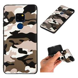 Camouflage Soft TPU Back Cover for Huawei Mate 20 - Black White