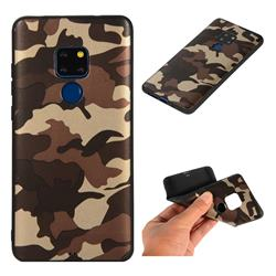 Camouflage Soft TPU Back Cover for Huawei Mate 20 - Gold Coffee