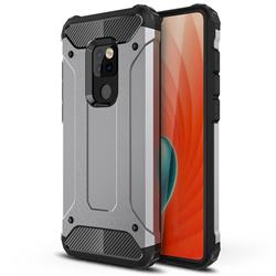 King Kong Armor Premium Shockproof Dual Layer Rugged Hard Cover for Huawei Mate 20 - Silver Grey