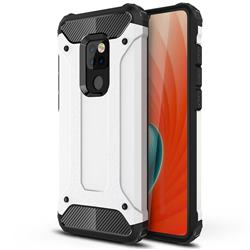 King Kong Armor Premium Shockproof Dual Layer Rugged Hard Cover for Huawei Mate 20 - White