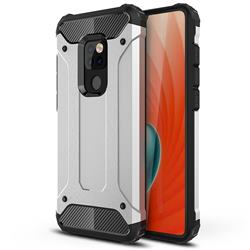 King Kong Armor Premium Shockproof Dual Layer Rugged Hard Cover for Huawei Mate 20 - Technology Silver