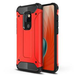 King Kong Armor Premium Shockproof Dual Layer Rugged Hard Cover for Huawei Mate 20 - Big Red