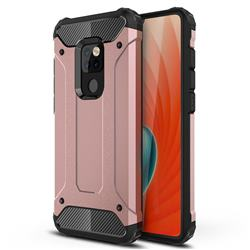 King Kong Armor Premium Shockproof Dual Layer Rugged Hard Cover for Huawei Mate 20 - Rose Gold