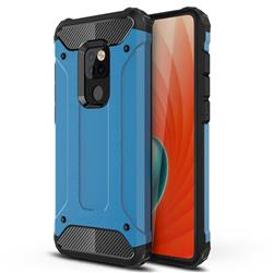 King Kong Armor Premium Shockproof Dual Layer Rugged Hard Cover for Huawei Mate 20 - Sky Blue