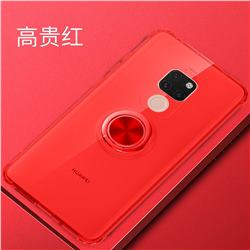 Anti-fall Invisible Press Bounce Ring Holder Phone Cover for Huawei Mate 20 - Noble Red