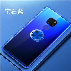 Anti-fall Invisible Press Bounce Ring Holder Phone Cover for Huawei Mate 20 - Sapphire Blue