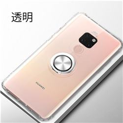 Anti-fall Invisible Press Bounce Ring Holder Phone Cover for Huawei Mate 20 - Transparent