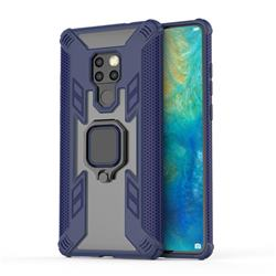 Predator Armor Metal Ring Grip Shockproof Dual Layer Rugged Hard Cover for Huawei Mate 20 - Blue