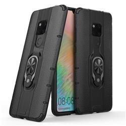 Alita Battle Angel Armor Metal Ring Grip Shockproof Dual Layer Rugged Hard Cover for Huawei Mate 20 - Black