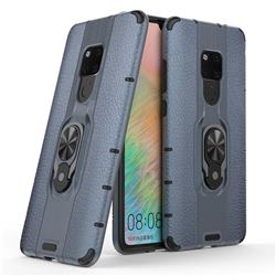 Alita Battle Angel Armor Metal Ring Grip Shockproof Dual Layer Rugged Hard Cover for Huawei Mate 20 - Blue