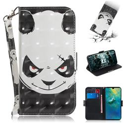 Angry Bear 3D Painted Leather Wallet Phone Case for Huawei Mate 20