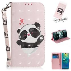 Heart Cat 3D Painted Leather Wallet Phone Case for Huawei Mate 20
