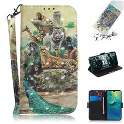 Beast Zoo 3D Painted Leather Wallet Phone Case for Huawei Mate 20