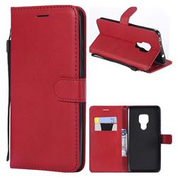 Retro Greek Classic Smooth PU Leather Wallet Phone Case for Huawei Mate 20 - Red