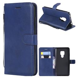 Retro Greek Classic Smooth PU Leather Wallet Phone Case for Huawei Mate 20 - Blue