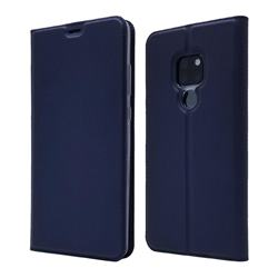 Ultra Slim Card Magnetic Automatic Suction Leather Wallet Case for Huawei Mate 20 - Royal Blue