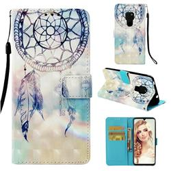 Fantasy Campanula 3D Painted Leather Wallet Case for Huawei Mate 20