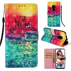 Colorful Dream Catcher 3D Painted Leather Wallet Case for Huawei Mate 20